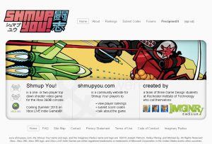 Shmup You! Homepage Design