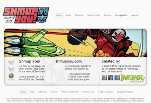 Shmup You! Homepage Design